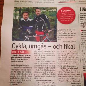 Älvsjö Slow Roll i tidningen